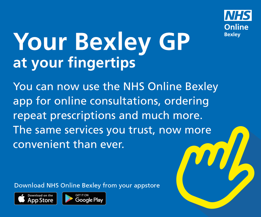 Your Bexley GP at your fingertips. You can now use the NHS Online Bexley app for online consultations, ordering repeat prescriptions and much more. The same services you trust, now more convenient than ever